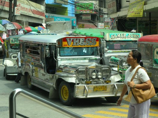 Jeepneys in Manila Traffic Congestion